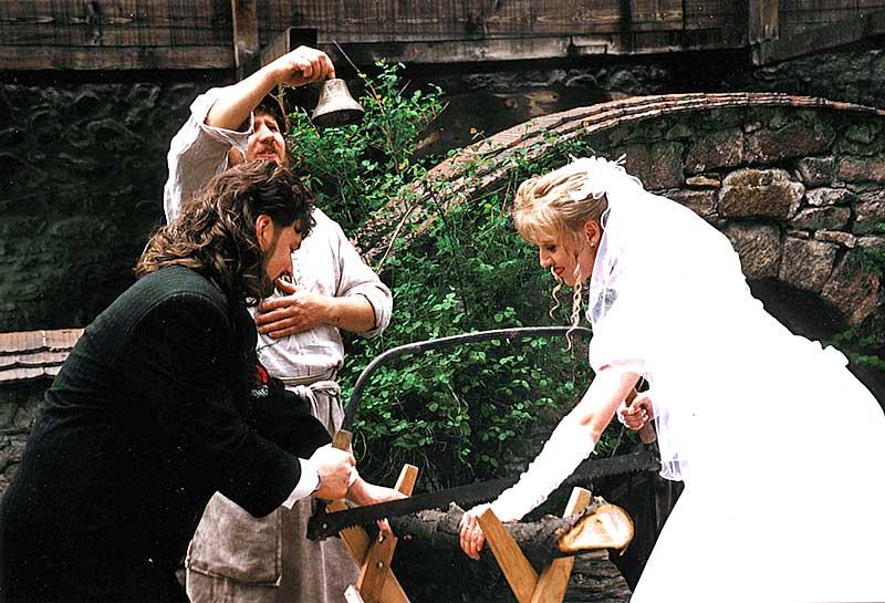 Hochzeitszeremonie in der Zschoner Mühle