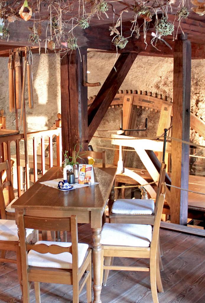 Der Mühlenraum - das Herzstück des Mühlenmuseums