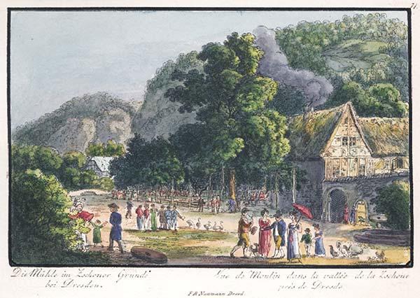 historisches Kolorit von 1830