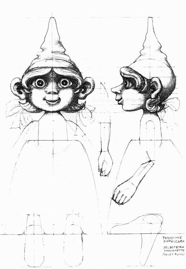 Aufregung bei Familie Zipfelchen - Fundus Marionetten Dresden
