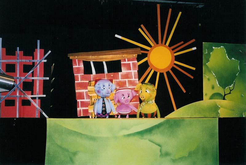 Die drei kleine Schweinchen - Puppentheater Glöckchen